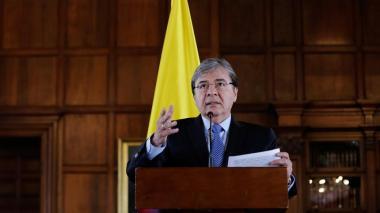 El canciller colombiano, Carlos Holmes Trujillo.