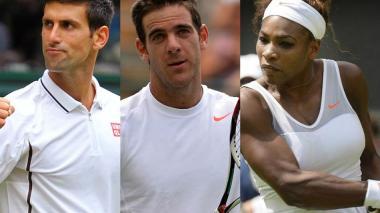 Djokovic, Serena y Del Potro a tercera ronda del Roland Garros