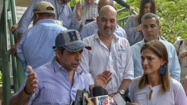 De izq a der: Alejandro Char, alcalde de Barranquilla; Pedro Pablo Jurado, director de Cormagdalena; José F. Curvelo, jefe de Asuntos Portuarios del Distrito, y Ángela María Orozco, mintransporte.