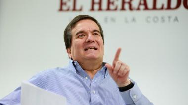 Alberto Roa, rector de la Universidad Tecnológica de Bolívar, durante su visita a EL HERALDO.
