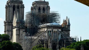 Reparación de la Catedral de Notre Dame.