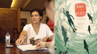 """Melba Escobar, la escritora que vino a """"aprender"""" de los niños"""