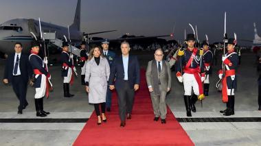 Presidente Duque llega a Argentina en busca de comercio e inversión