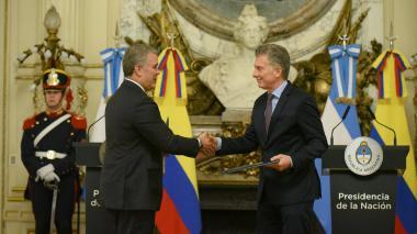Duque y Macri defienden convergencia entre Alianza del Pacífico y Mercosur