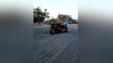 En video   Oxigenan playa de El Rodadero para recibir turistas