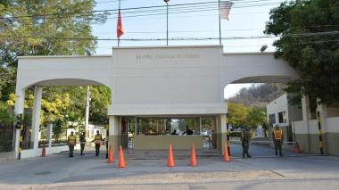 Esta es la  fachada del Batallón de La Popa, el cual está ubicado en la ciudad de Valledupar en Cesar.