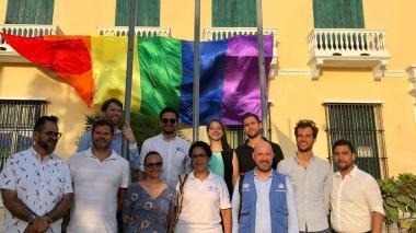 Se izó la bandera de la diversidad sexual en el Caribe