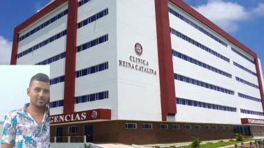 Dylan Ariza Lara fue llevado a la clínica Reina Catalina, sede Baranaoa, donde ingresó sin signos vitales.