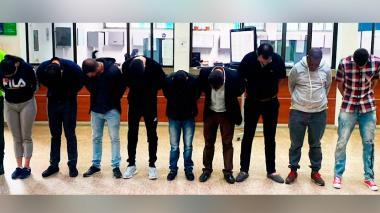 Desarticulan banda que enviaba colombianos al exterior para lavar dinero