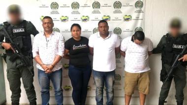 Caen cuatro sindicados de extorsionar a ganaderos y contratistas en Córdoba