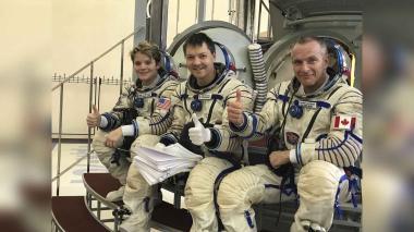 Tres astronautas regresan a la Tierra tras una misión en la ISS