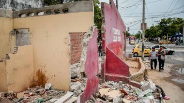 Malestar por demolición de casas en obras de la carrera 4