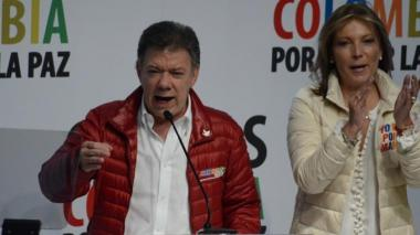 Juan Manuel Santos durante su campaña presidencial.