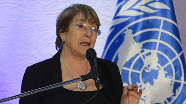 Michelle Bachelet, alta comisionada de la ONU.