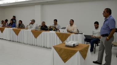 Taller de la MOE con los líderes de Sucre.