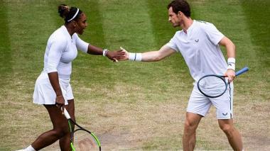 Andy Murray y Serena Williams caen en los dobles mixtos de Wimbledon