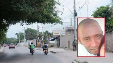 Sector por donde fue baleado Juan Carlos Palomeque García (en el recuadro).