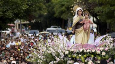 Vista de la procesión de la Virgen del Carmen.