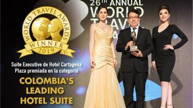 Suite Executive del hotel Cartagena Plaza recibe premio internacional