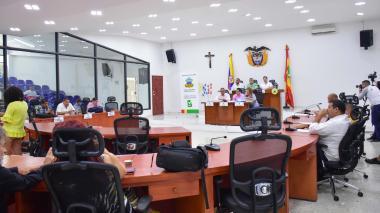 Aspecto de la sesión del Concejo Distrital de este martes.