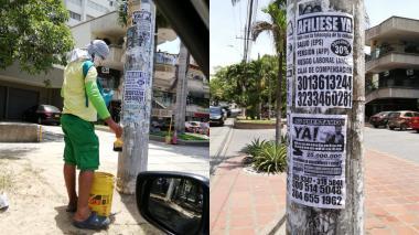 Ciudadanía reitera denuncia por 'empapelamiento' de postes
