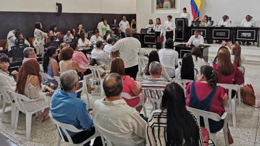 Sesión de la Asamblea Departamental.