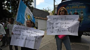 Anuncian nuevas protestas y bloqueos en Guatemala por acuerdo migratorio con EEUU