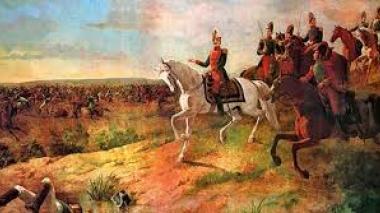 Representación de la Batalla de Boyacá.