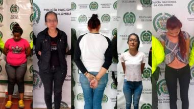 Mujeres capturadas.