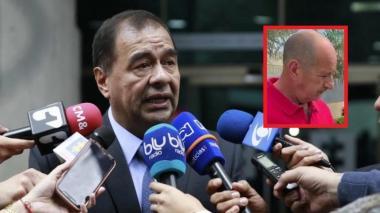 Fabio Espitia, fiscal general (e). En el recuadro Aldemar Soto.