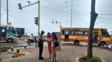 Policías en Marbella.