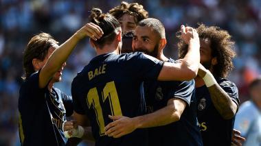 James vio en el banco el triunfo del Real Madrid