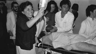 La historia de la foto de Galán en el hospital que dio la vuelta al mundo