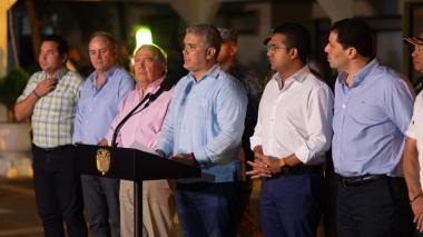 Presidente Duque durante la confirmación de la captura de  Carlos Mario Úsuga, hermano de alias 'Otoniel'.