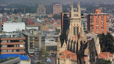 Panorámica de Bogotá, la capital del país, donde también han llegado las amenazas de las Águilas Negras.