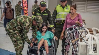 200 soldados colombianos apoyan a militares del buque hospital de USA, en Santa Marta