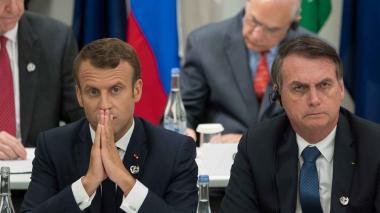 Emmanuel Macron y Jair Bolsonaro, presidentes de Francia y Brasil, respectivamente.