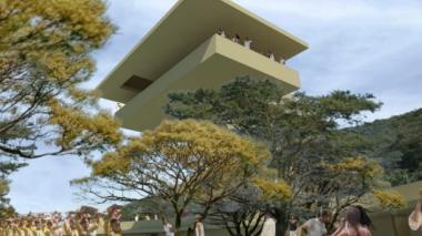 Rénder del proyecto La Casa en el Aire.
