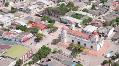 Vista panorámica de la plaza de Soledad y de sus alrededores