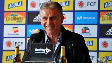 Carlos Queiroz, técnico de la Selección Colombia de Fútbol.