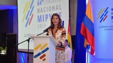 La vicepresidenta de la República, Martha Lucía Ramírez.