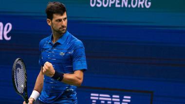 El campeón defensor Novak Djokovic.