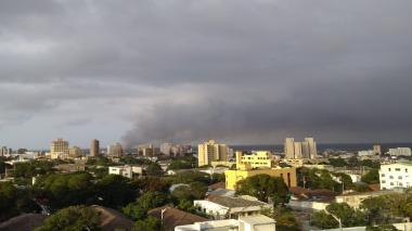 En el sector de la calle 70 entre  carrera 46 y 45 se reportó el humo de las quemas.