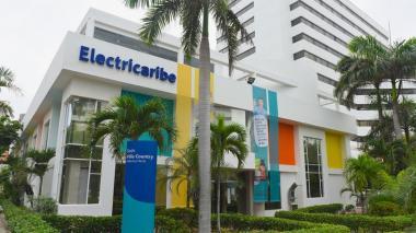 Fachada de las oficinas de Electricaribe en el norte de Barranquilla.