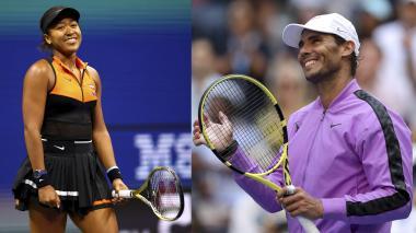Naomi Osaka y Rafael Nadal.