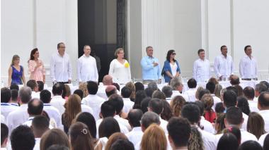 El presidente Iván Duque durante la apertura del XXV Encuentro de la Jurisdicción de lo Contencioso Administrativo en Santa Marta.