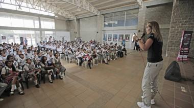 Aspecto del evento sobre el lanzamiento de la campaña contra la trata de personas en Riohacha.