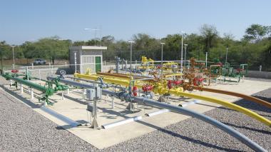 Subestación de Gases del Caribe en su zona de cobertura en la Costa.