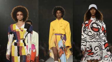 Los modelos de Pyer Moss durante su desfile en la Semana de la Moda de Nueva York.