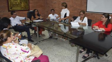 Aspecto de la reunión del comité de trata de personas.